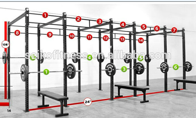 High Quality Crossfit Rack Jg Mk7203 For Commercial Fitness Equipment Gym