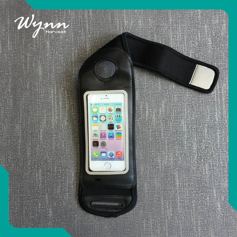 College phone accessories black armband cellphone