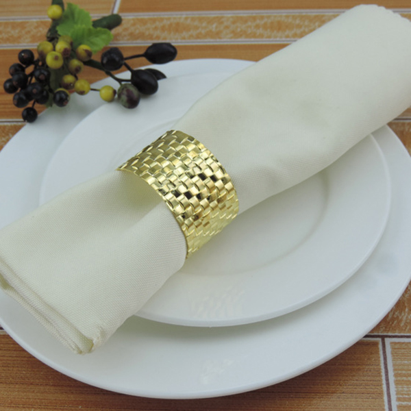 Yiwu Aimee factory directly cheap wholesale gold table dinner napkin rings for wedding decoration(AM-NR02) фото