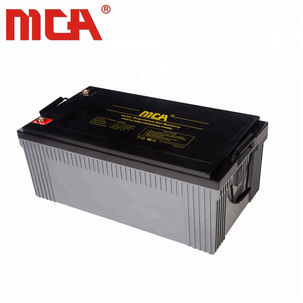 MCA High Efficient VRLA Gel Battery 12V 220Ah with Best Price