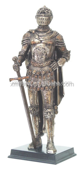 2017 top popluar metal Medieval knight statue for decoration