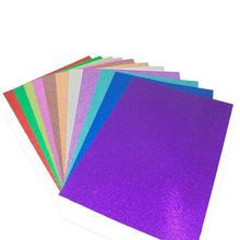 Custom color high quality scrapbook paper A4 glitter paper for scrapbook
