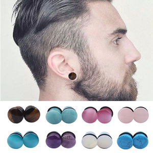 High Polish Natural Organic Body Piercing Jewelry Ear Plug Stone Ear Plug
