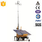 2016 OEM Trailer Mounted Construction Portable Lighting Generator Cooperated Led Flood Mobile Solar Light Tower