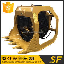excavator screen bucket rotatory screen bucket grid size 40mm