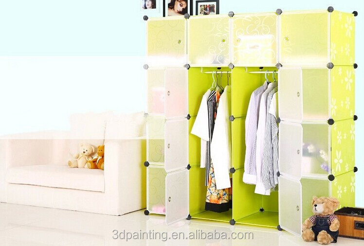 12 cubes High quality plastic storage organiser with emboss patterns