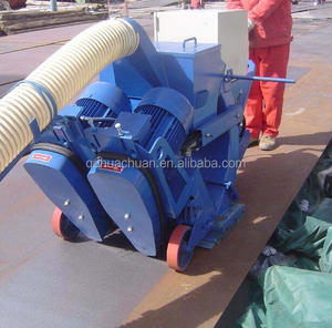 Ship steel deck preservative derusting shot blasting machine