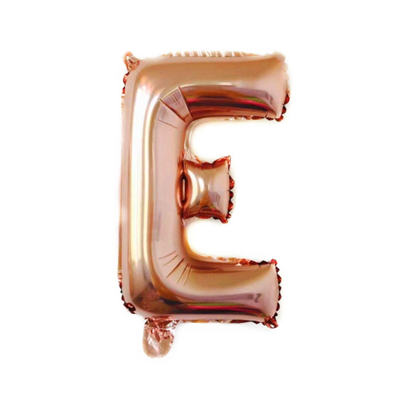 16 Inch Rose Gold Alphabet Letters Balloons Kids Birthday Party Decorations Foil Balloon Wedding Party Supplies