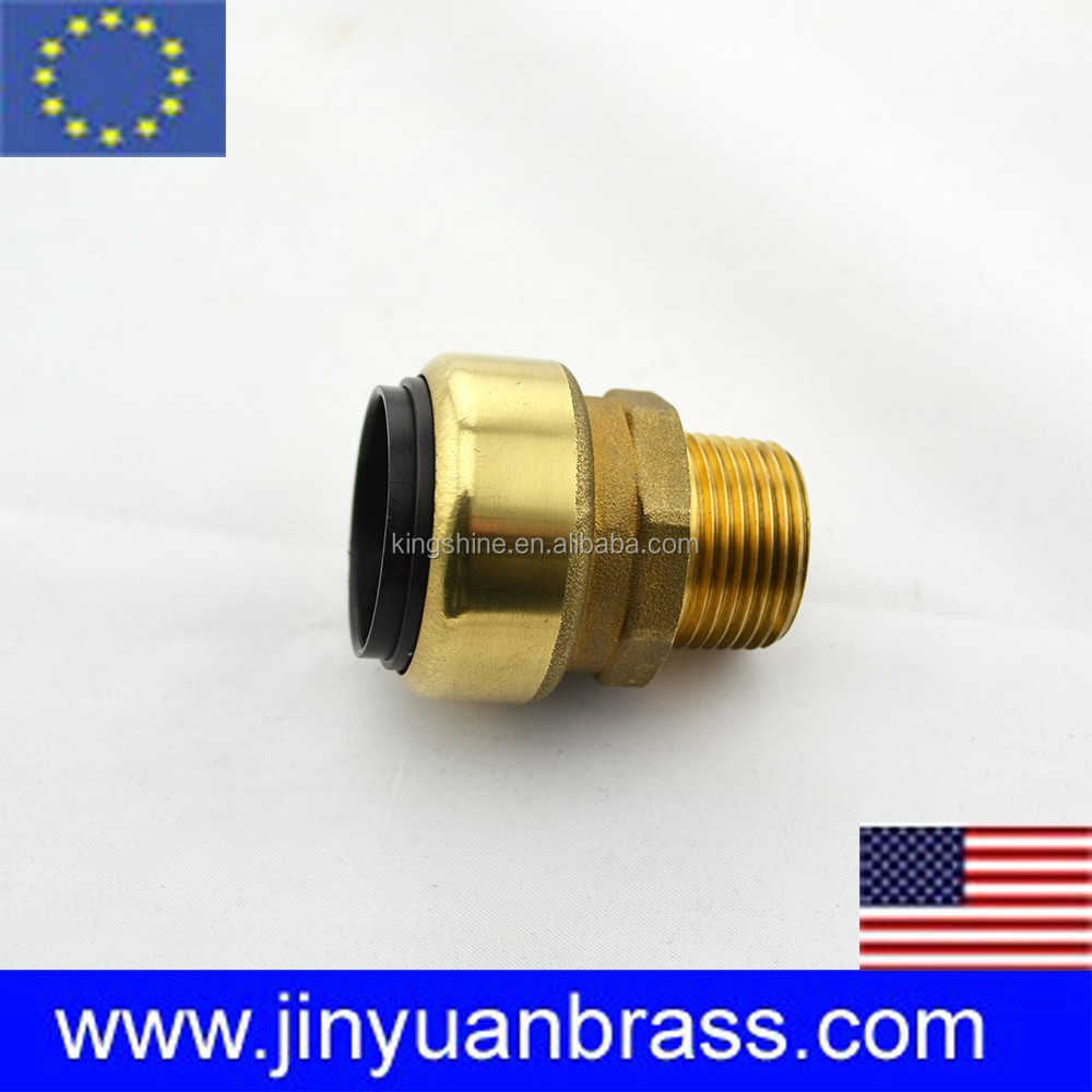 brass coupler 90 degree pneumatic brass male elbow swivel connector copper fitting pneumatic push in fitting