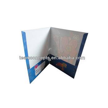 Custom Paper Printed Cut Two Pocket Folders Folder Product On