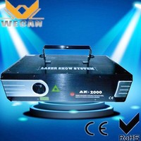 hot sale!!!latest products in market hmi light Color animation laser 2w mini laser stage lighting price