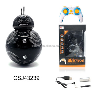 New 2 IN 1 Hot sales 17CM BB-9 RC BB8 Robot 2.4G remote control intelligent small ball amphibious vehicles for sale