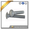 Carbon steel carriage bolts with hex nuts