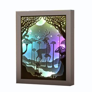 New arrival romantic design customised Paper light box 3D Papercut Light for Valentine's Day gift