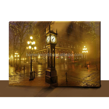 Latest Landscape Painting Watercolor With Led Light Up Canvas Paintings Wall  Art For Home Decor Wholesale