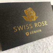 Custom logo Art paper business cards 와 활자 printing 금 호 일 printing