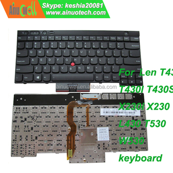 Brand New Laptop Keyboard For Lenovo T430 T430i T430s T410 T440p X220 X230  L430 T530 W530 Keyboard For Thinkpad E520 E525 E530 - Buy Laptop