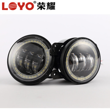 "Best quality 4.5"" fog light for harley motorcycle light led 4.5"" 30w 1260lm per pair with halo ring"