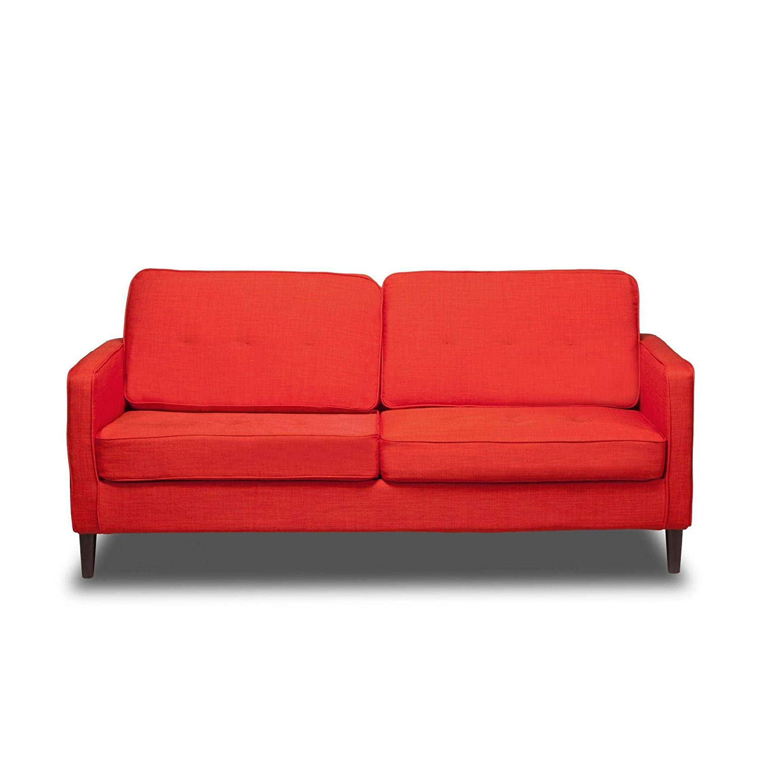 """Safron 66"""" Upholstered Sofa, Pocket Coil Seat Cushions, Solid Wood Legs, Hardwood Solids, Metal Seat Frame, Removable Slip Cover, Bundle with Our Expert Guide with Tips for Home Arrangement"""