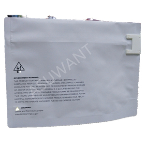 12*9 FDA & ASTM certificated Dispensary Exit Bag Child Resistant Locking Pouches Single Use