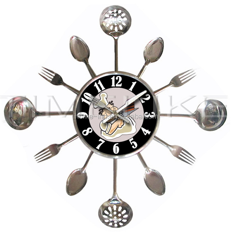 Kitchen Clock With Knife And Fork, Kitchen Clock With Knife And