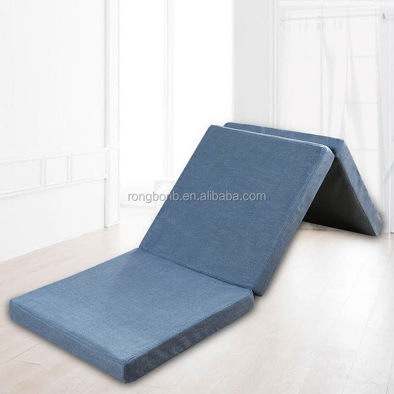 3 Folding Sleeping Bed Soft Foldable Rollaway Bed Mettress Memory Foam Single Bed Mattress