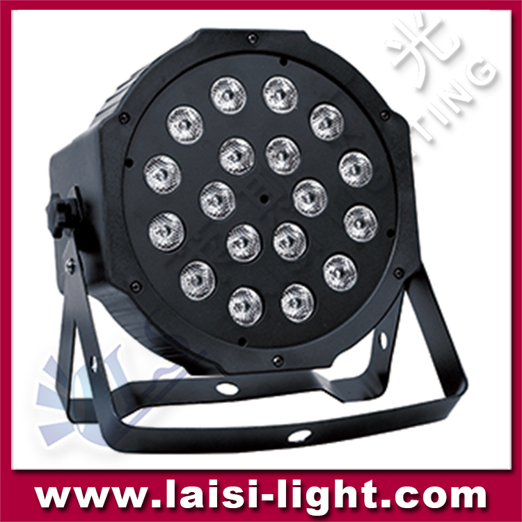 New 18pcs 10W Flat Par led,18PCS*10W 4in1 LED Flat PAR Light/ Stage Lighting