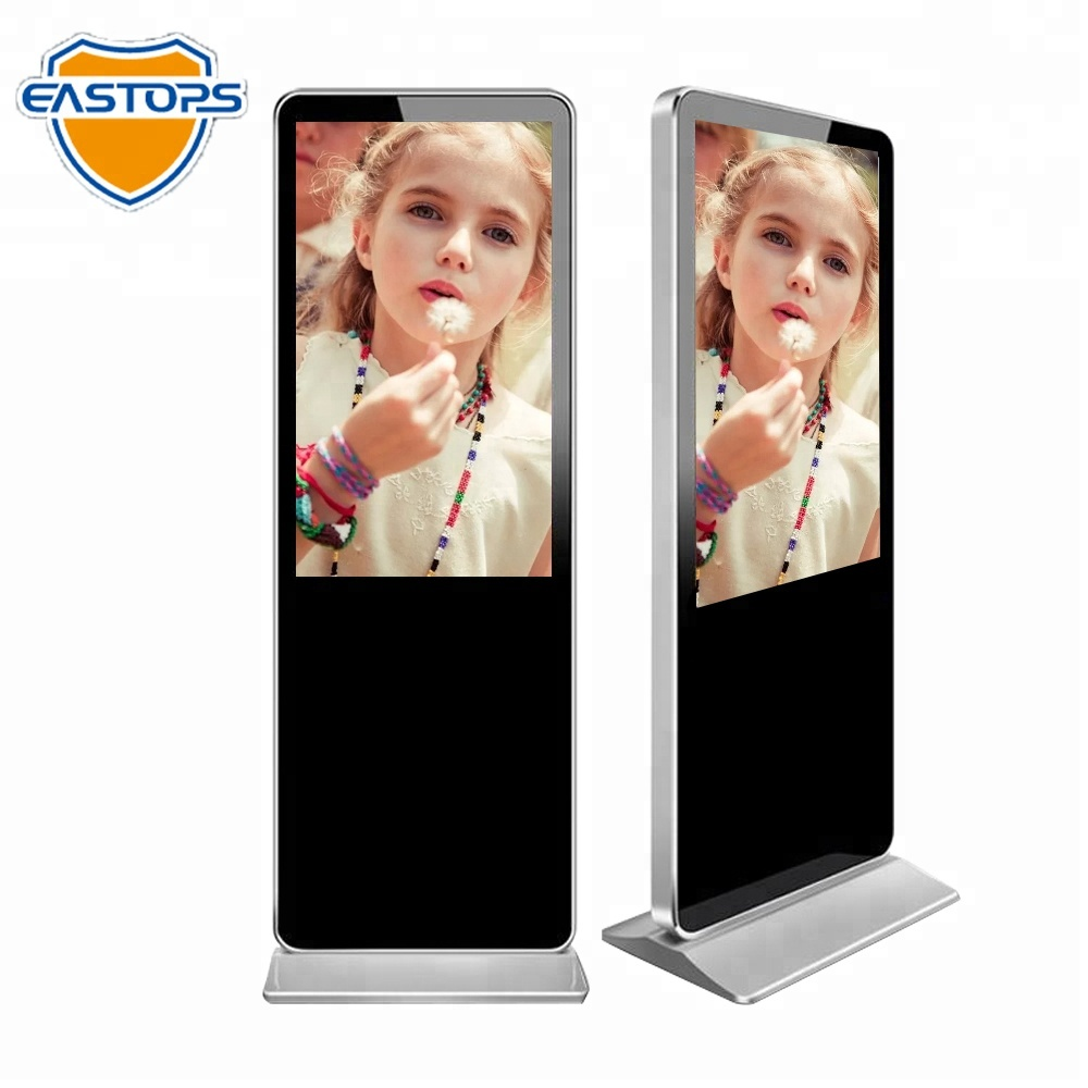 In Adaptable 43inch Indoor Floor Standing Foldable Lcd Digital Signage Advertising Display Screen For Shop/retail Store Excellent Quality