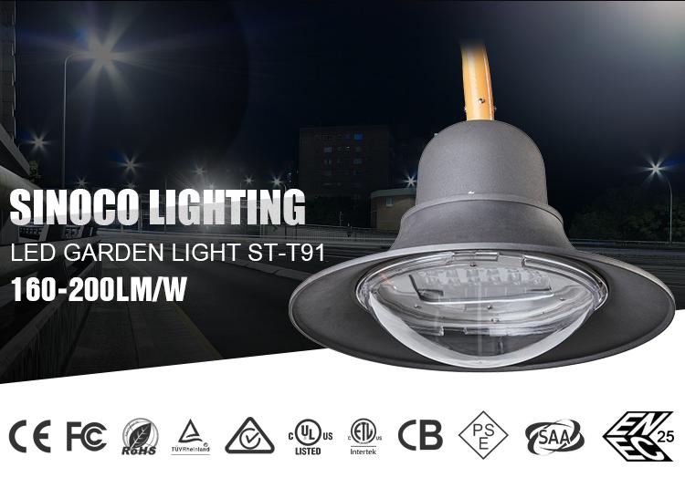 2018 SINOCO High Quality Aluminium IP66 Outdoor Park Lantern 40W LED Post Top Garden Light