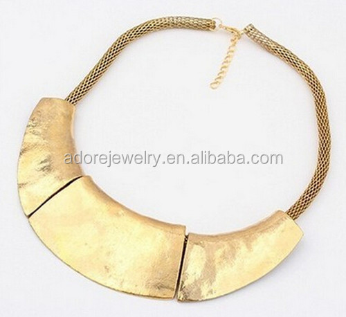fashion vintage alloy necklace vintage saudi gold jewelry