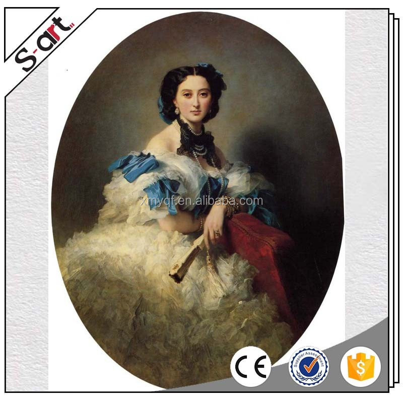 Handpainted classical beautiful lady figure oil painting