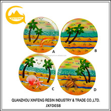 Printing Resin Country Travel Souvenir Plate for Decoration