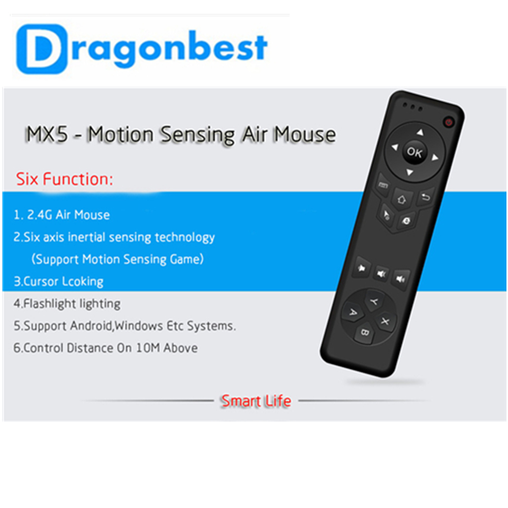 MX5 2.4G Remote Control MX3/FM3S Air Mouse Wireless Keyboard + Voice for XBMC Android Mini PC TV Box
