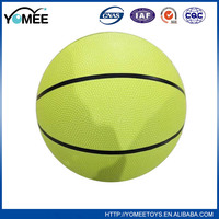 Wholesale new colorful rubber basketball game