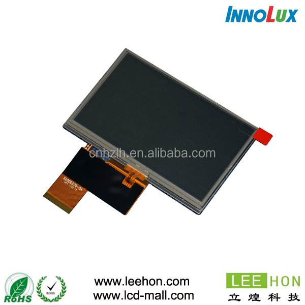 Cheap price Innolux 4.3 inch small touch screen integrated AT043TN24 V.7