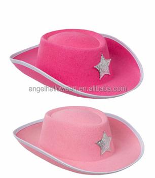 10e3fbae27334 Pink Cowboy Hat Look Wild West Women s Ladies Wool Felt Hat NC4023