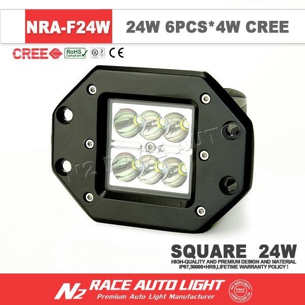 Guangdong Factory Wholesale 2015 Hot selling Super Bright Pair 24watt Pod Light for Super Duty F250 with CE Certificate