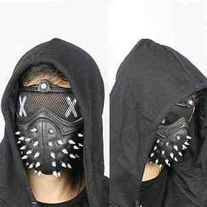 Game Mask Halloween Half Face Mask Party Cosplay Props Cosplay Rivet Mask