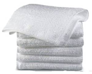 "GHP 15""x27"" 48Pcs Large White 44oz Cotton Bar Mops Towels"