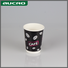 custom printed mini disposable Eco-friend double wall paper cups