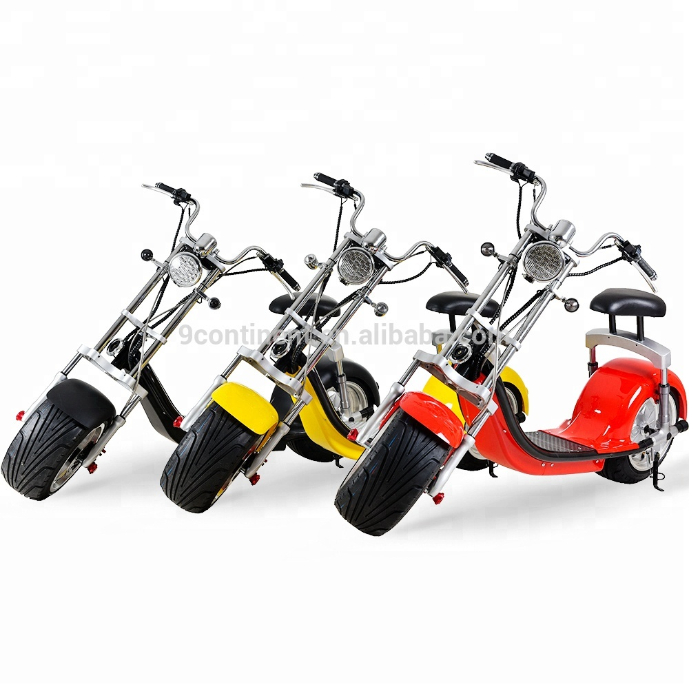 2018 60v 12ah 20ah battery adult electric motorcycle citycoco 2000w electric scooter, Black;white;red;yellow....