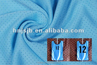 polyester tricot mesh fabric/football jersey fabric material