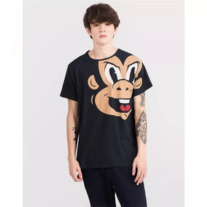 customized wholesale high quality teenager boys cartoon print t shirt with cheap price