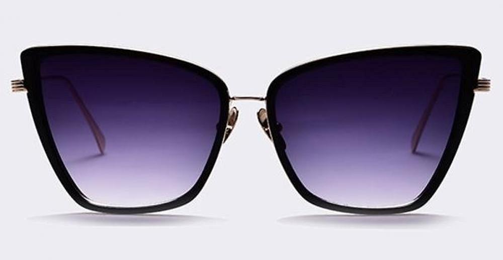 New Fashion Women Sunglasses Cat Mirror Glasses Metal Cat Eye Sunglasses Women Brand Designer High Quality Square Style lunettes de soleil de produits (1pc, color C01)