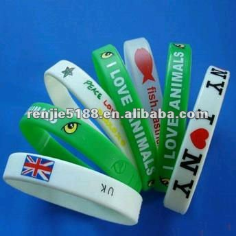 Adult Fashion White I Love 3 NY New York Silicone Rubber Wrist Band UK Seller