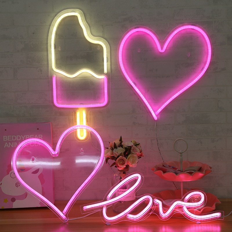 Mother day gifts neon heart marquee sign lights