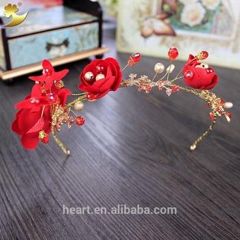 Classic Red Crystal Hair Jewelry Halo Hair Band Head Band Headwear