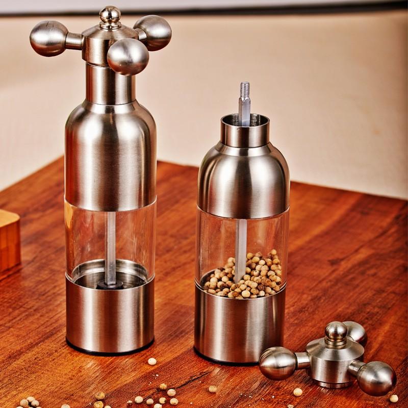 새로운 디자인 주방 도구 스테인레스 스틸 304 수동 블랙 소금과 ...