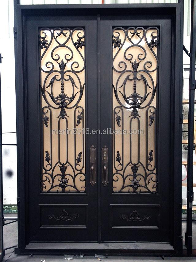 Puerta interior puerta exterior de hierro forjado forjado - Puertas hierro forjado exterior ...