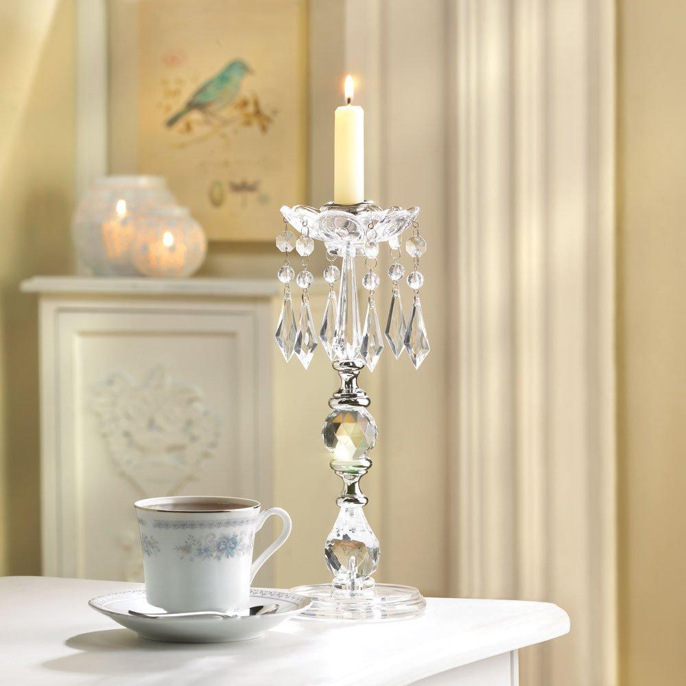 Buy 2 lot Crystal Beaded Chandelier taper Candle Holder Wedding ...